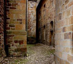 Gasse in der Schlossanlage von Bad Iburg