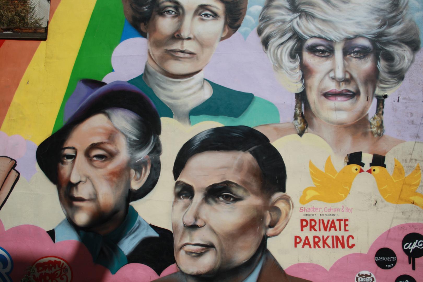Gaurdians of Manchester on a car park