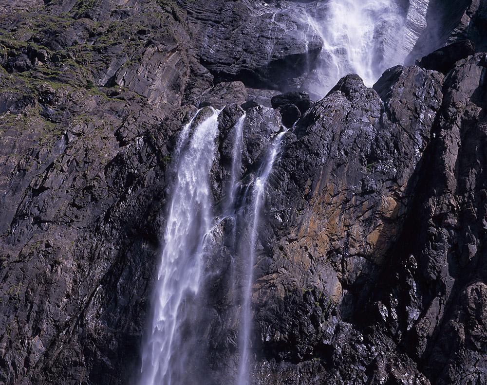 Gavernie Ausschnitt des großen Wasserfalls