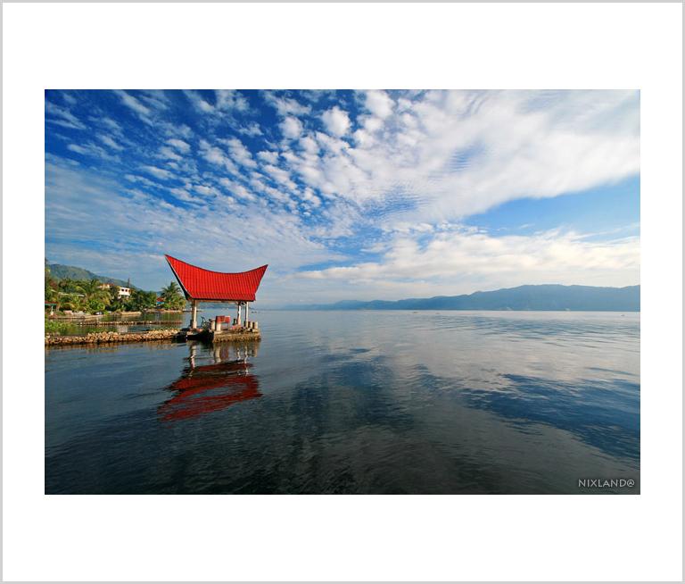 Gazebo at Lake Toba