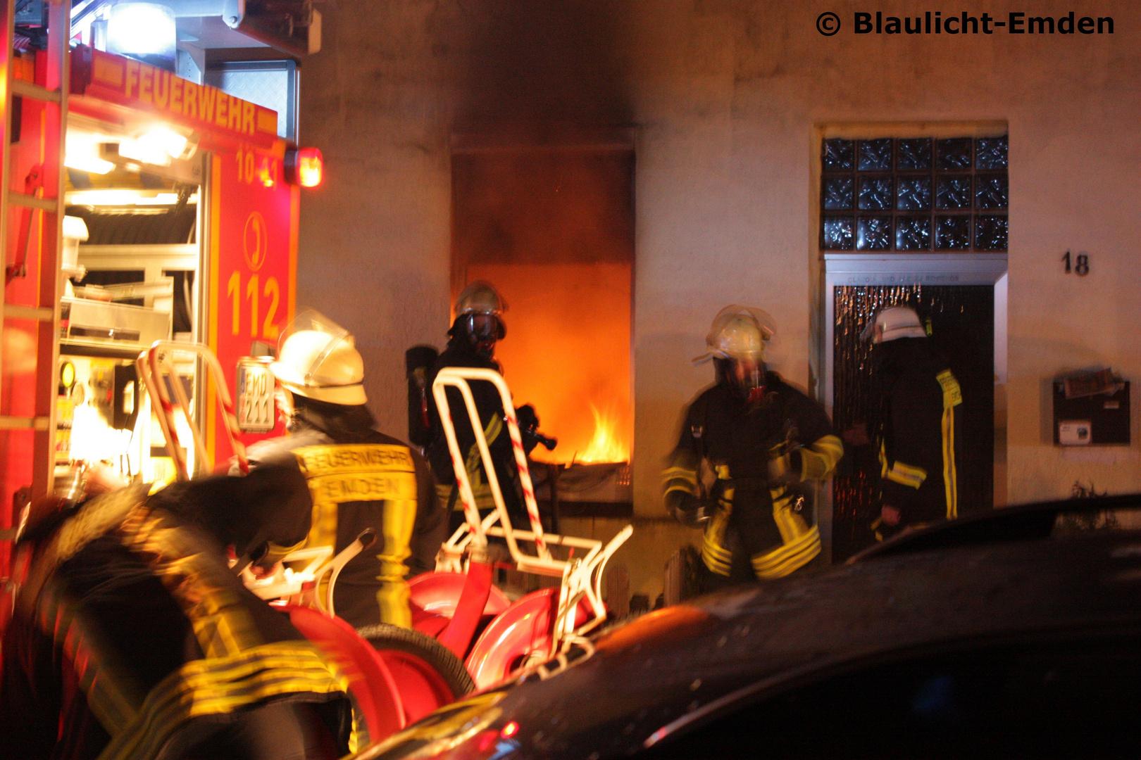 Gebäudebrand in Emden