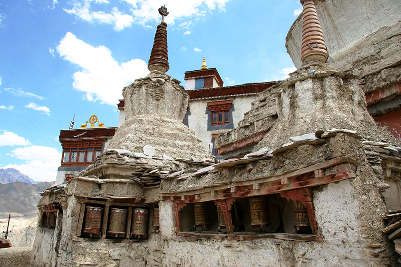 Gebetmühlen in Lamayuru