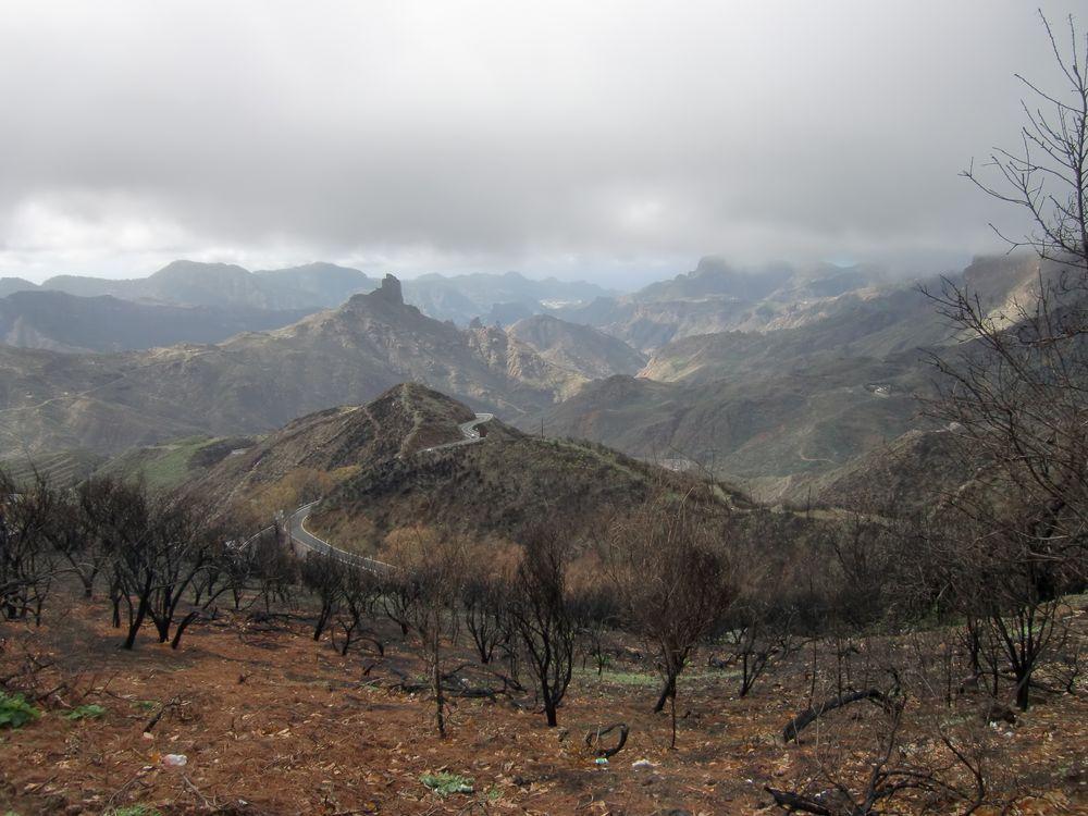 Gebirge bei Tejeda, Gran Canaria