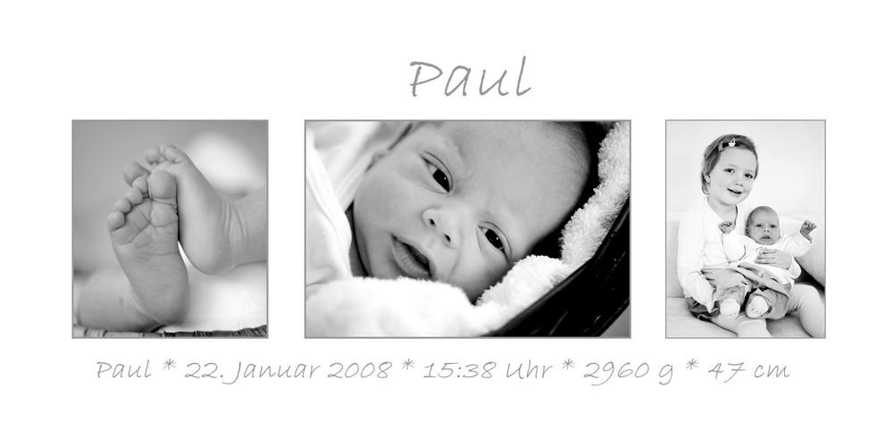 Geburtskarte Paul
