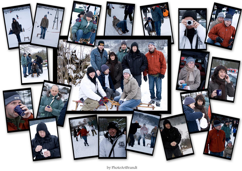 Geburtstag Im Schnee Foto Bild Collagen Menschen Bilder Auf