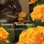 Geburtstagsgrüße für Astrid