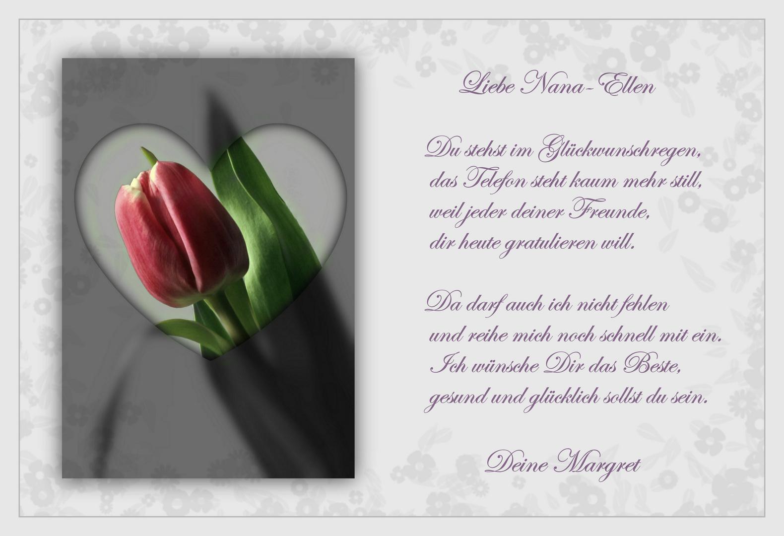 Geburtstagswünsche Karten Bilder.Geburtstagsgrüße Für Nana Ellen Foto Bild Gratulation Und