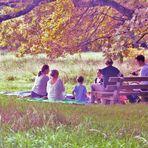 Geburtsttag im Park ( die Tonung habe ich bewusst so gewählt)