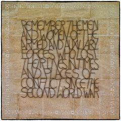 Gedenktafel in Westminster Abbey...