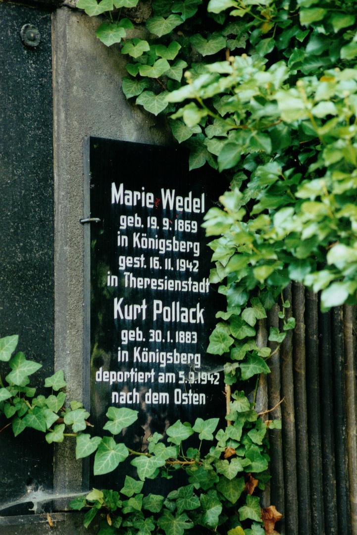Gedenktafel jüdischer Friedhof Weißensee