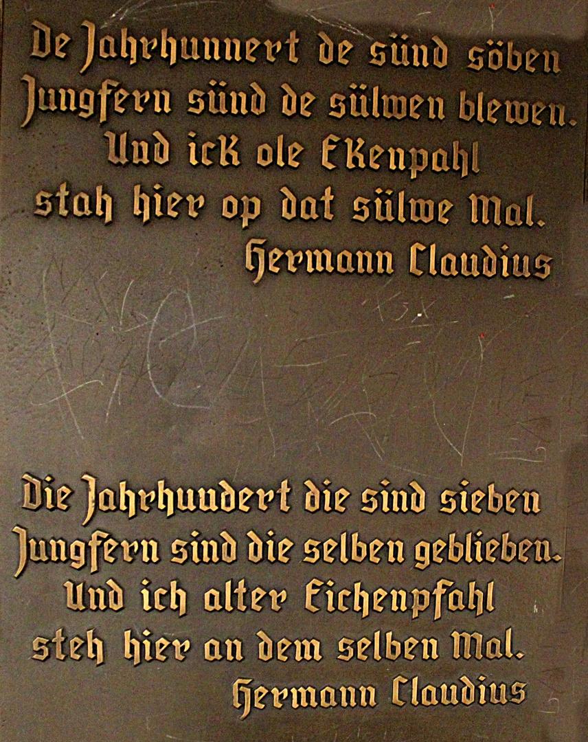 Gedicht Plattdeutsch Und Hochdeutsch Von Hermann Claudius