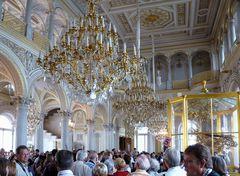Gedränge in der Eremitage - St. Petersburg