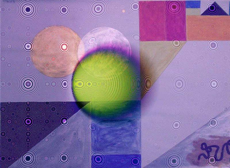gedruckte Schaltung&Tennisball