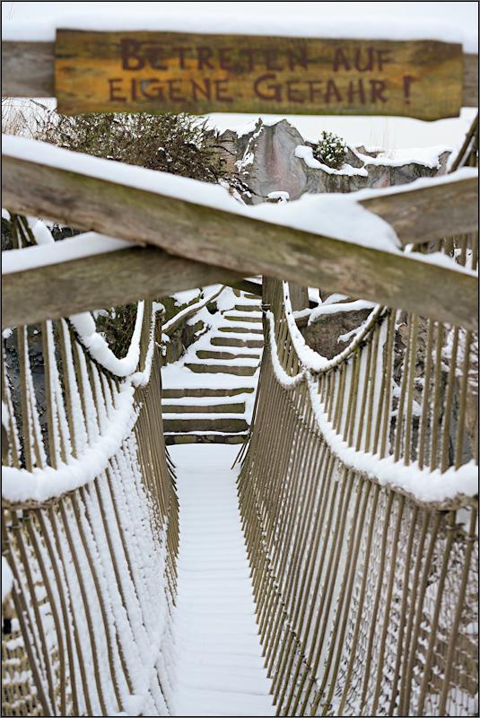 Gefährliche Hängebrücke [6] ...