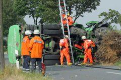 Gefahrgutunfall - umgekippter Tanklastzug