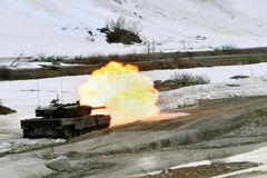 Gefechtsübung mit Leopard 2