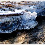 gefrorener Bizzenbach