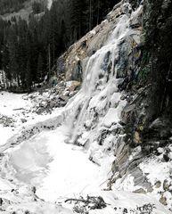gefrores - Krimml-Wasserfall am Auslauf