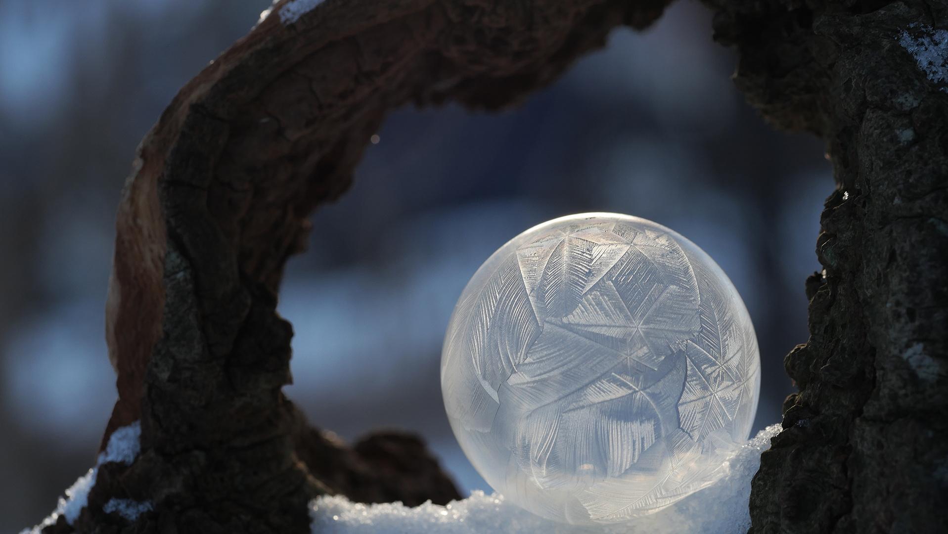 gefrostete Seifenblase (hinterleuchtet)