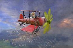 gegen den Wind fliegen