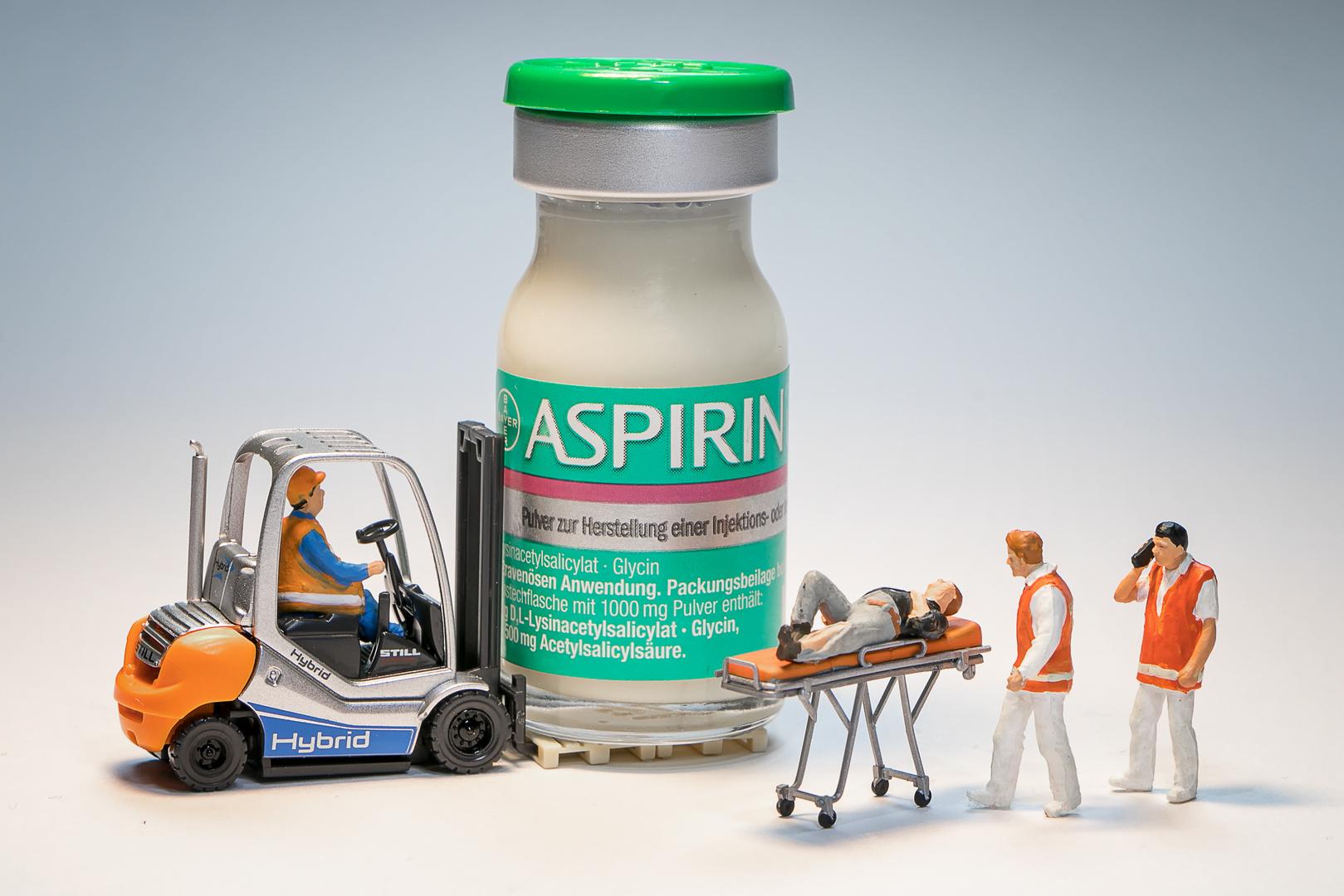 Gegen starke Kopfschmerzen hilft Aspirin