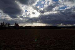 Gegenlicht mit Wolken