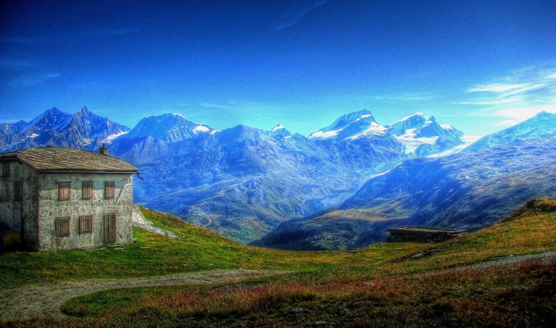 gegenüber dem Matterhorn