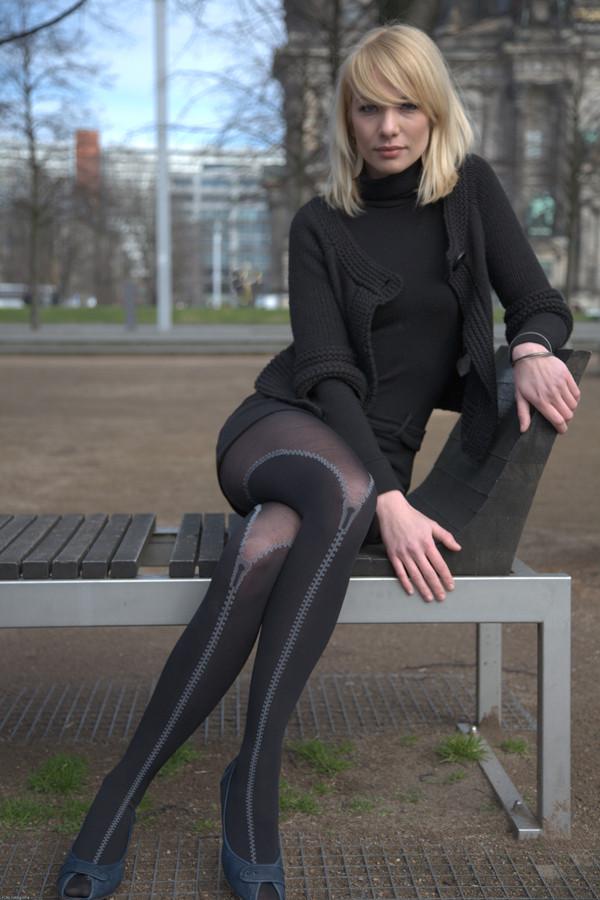 Geile Strumpfhose Foto Bild Fashion Outdoor Frauen Bilder Auf