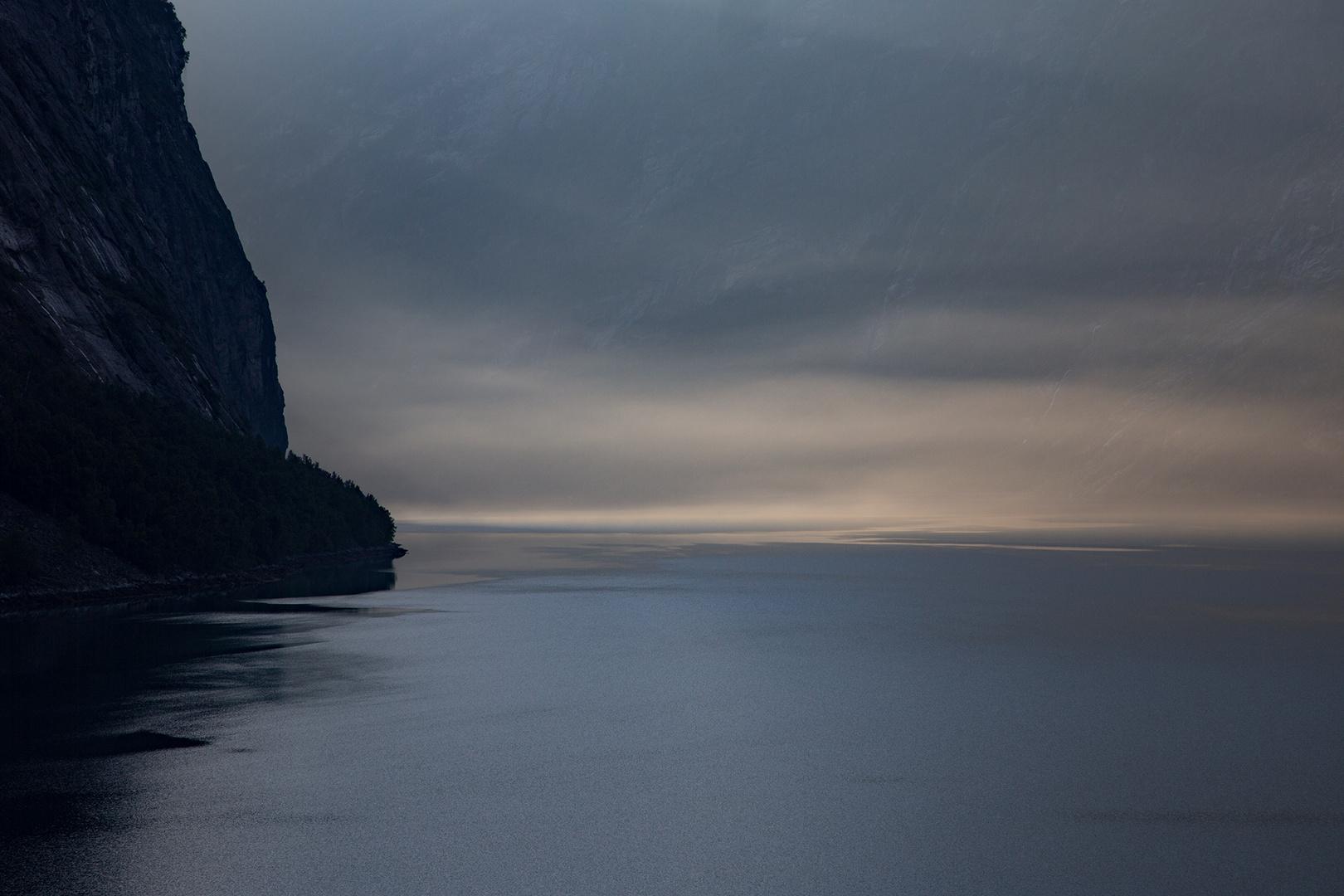 Geiranger-Fjord in the fog