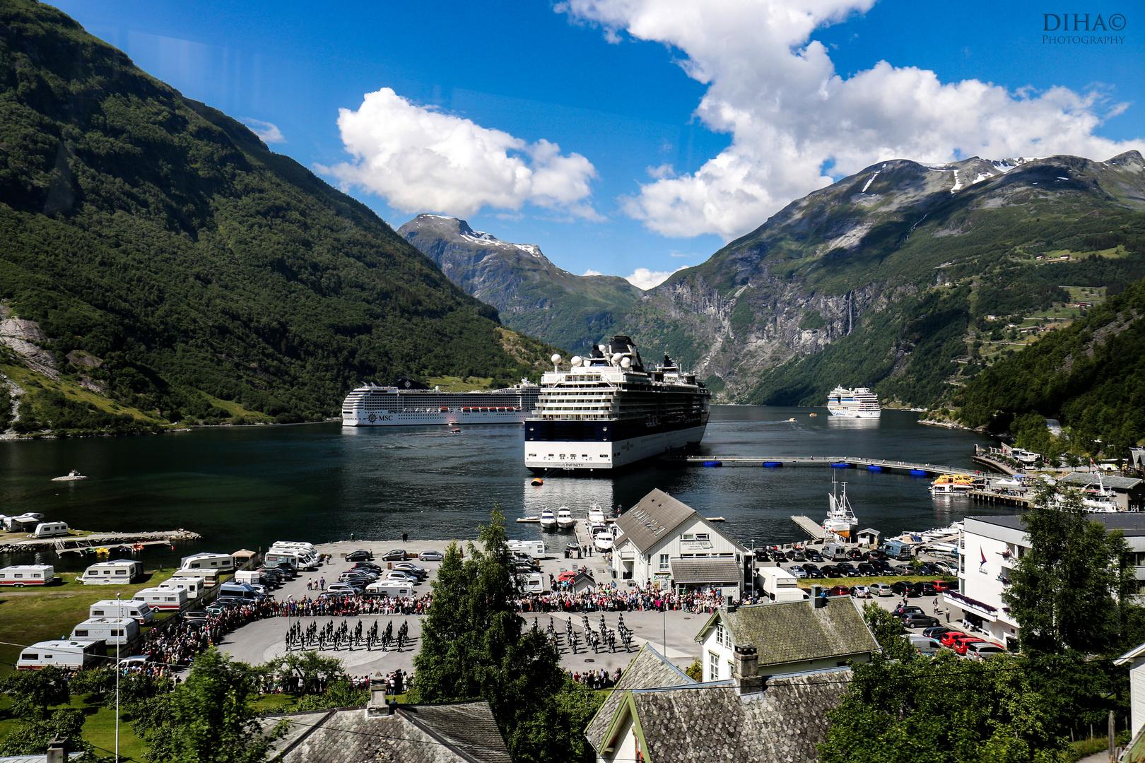 Geirangerfjord- Hafen