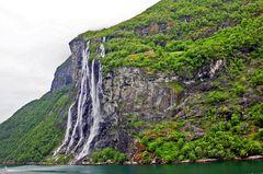 Geirangerfjord, Seven Sisters