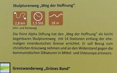 """Geisa: """"Weg der Hoffnung"""", Informationstafel"""
