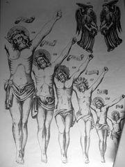 gekreuzigtenfigurenmusterblatt
