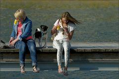 Gelbe Becher mit Hund ...