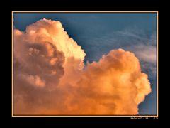 gelbe Wolke vor dem Regen