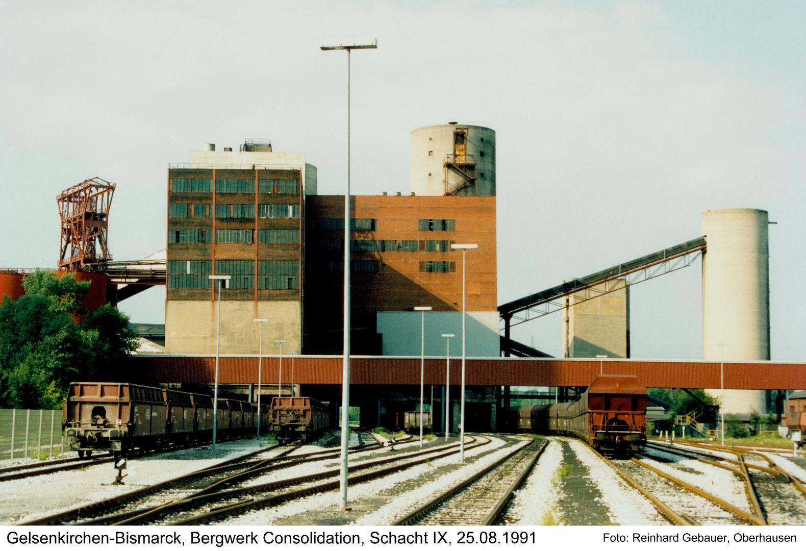 Gelsenkirchen-Bismarck, Bergwerk Consolidation, Schacht XI, 1991
