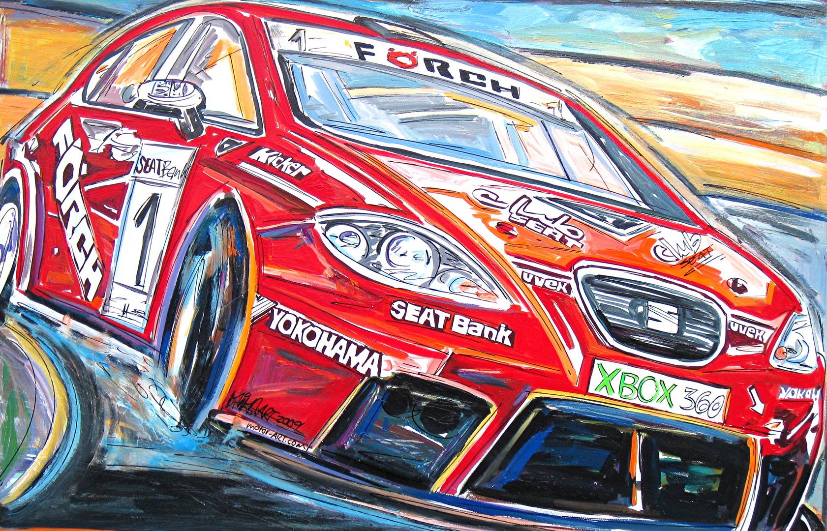 Gemälde für SEAT Deutschland, Hockenheimring 2009