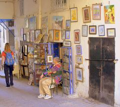 Gemälde-Galerie in Tanger ...