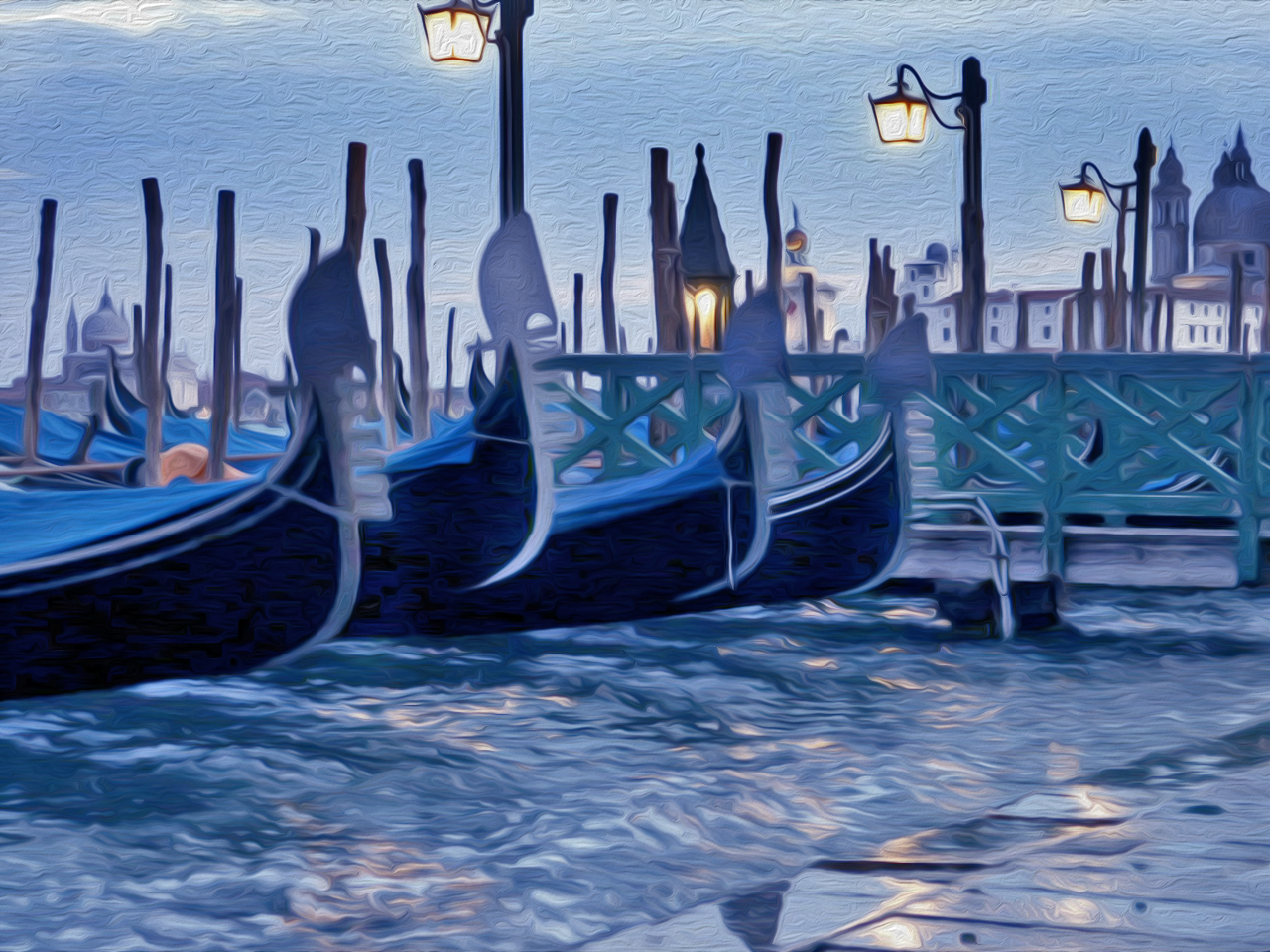 Gemälde nach Fotovorlage - Venedig