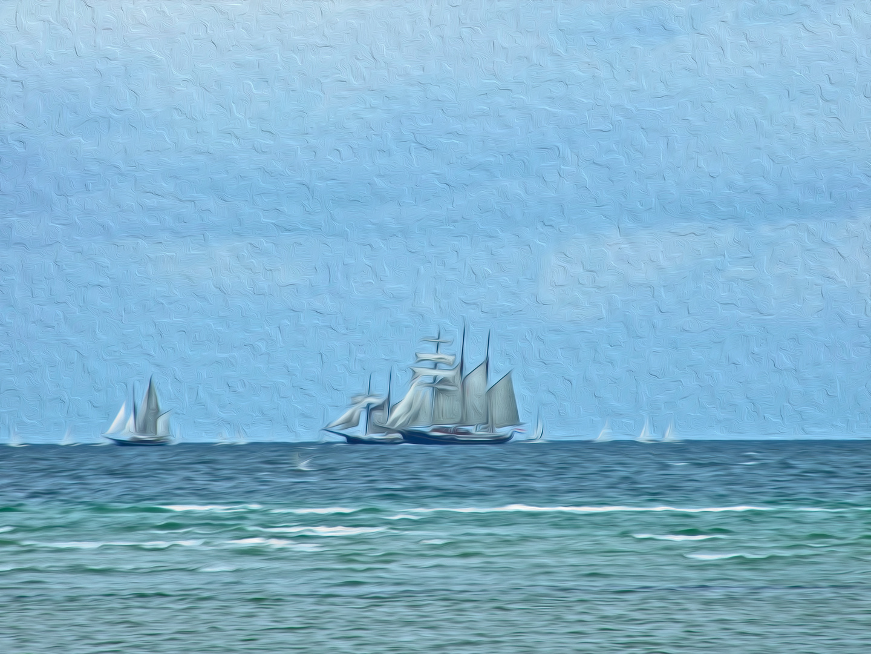 Gemälde nach Fotovorlage - Windjammer