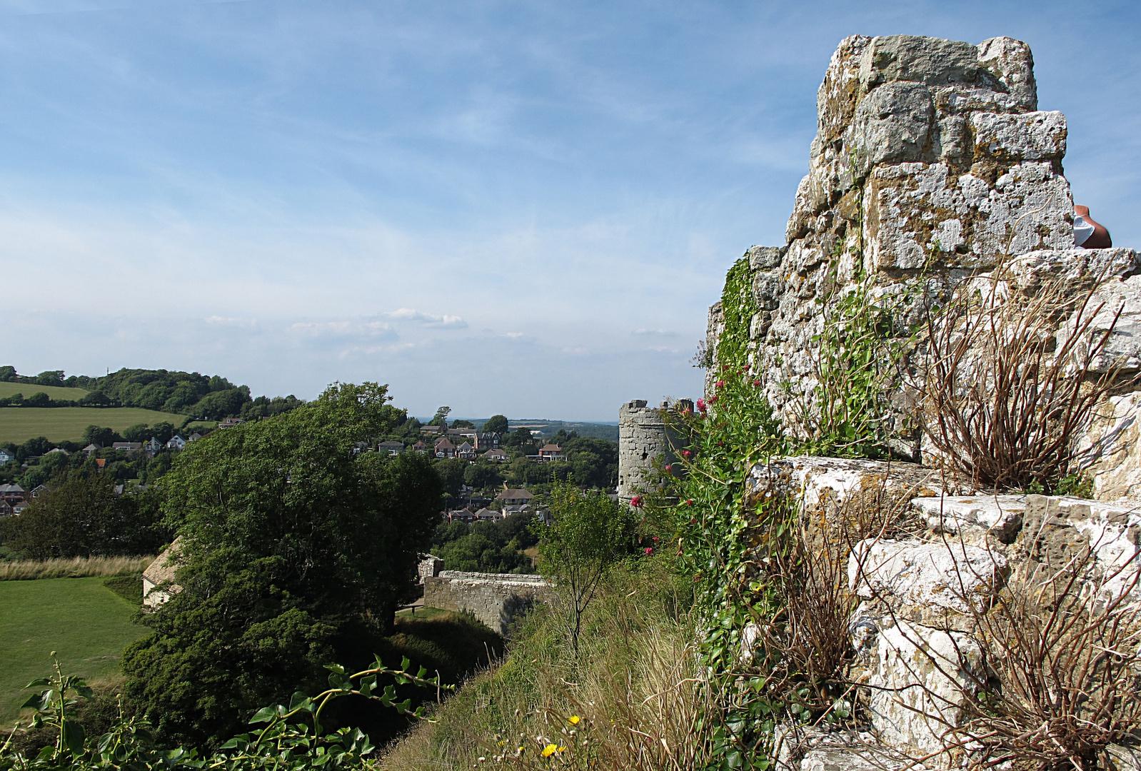 Gemäuer vom Carisbrooke Castle.