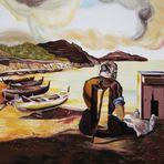 Gemalt nach einem Bild von Salvador Dali