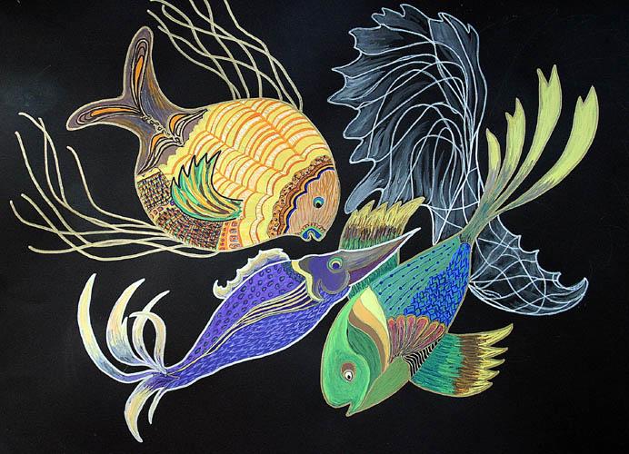 gemalte fische