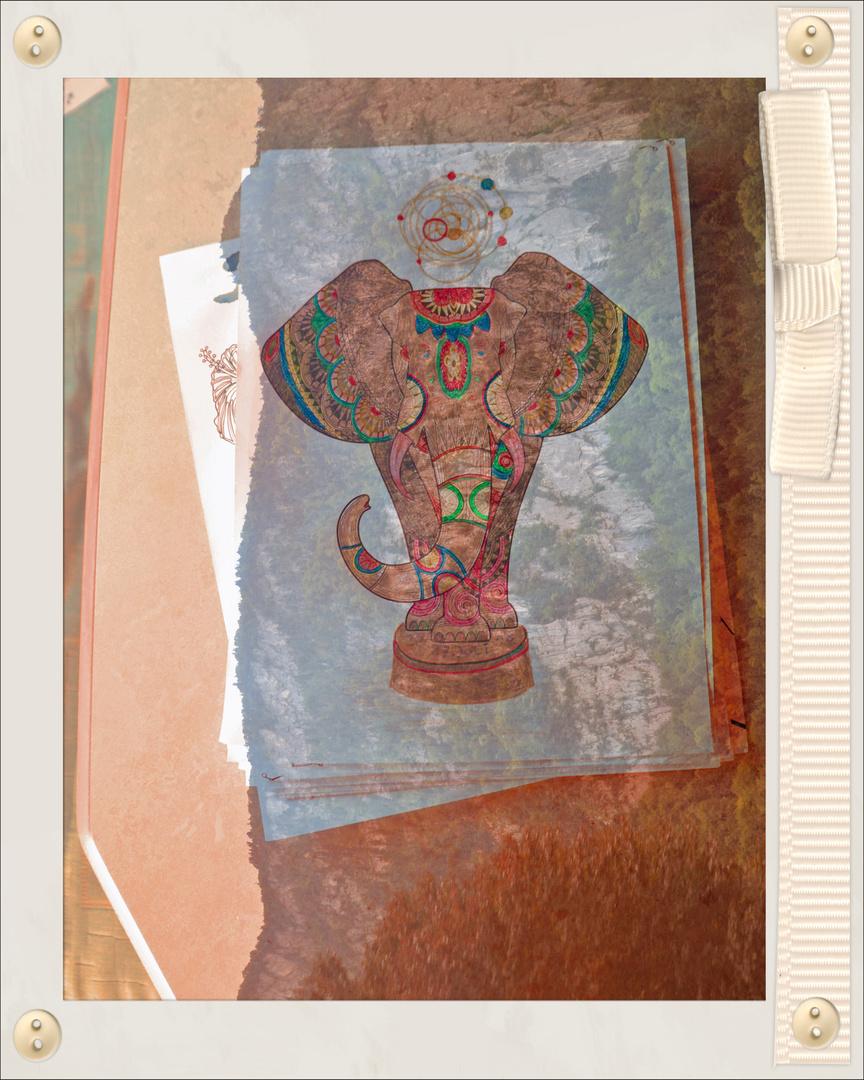 gemalter Elefant 001