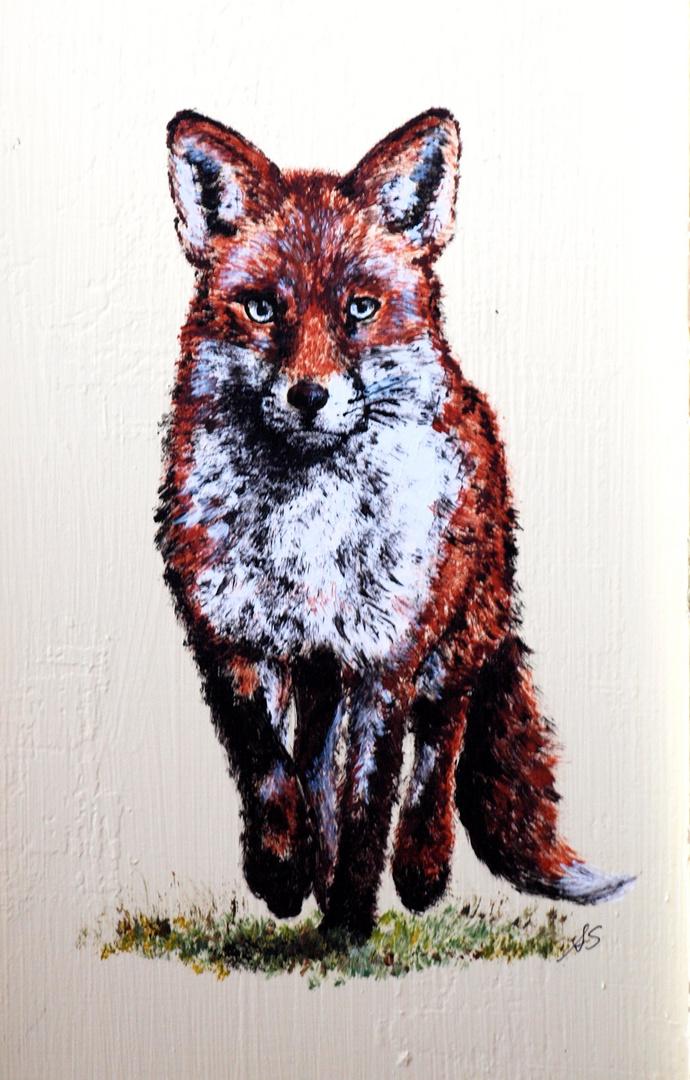 gemalter Fuchs