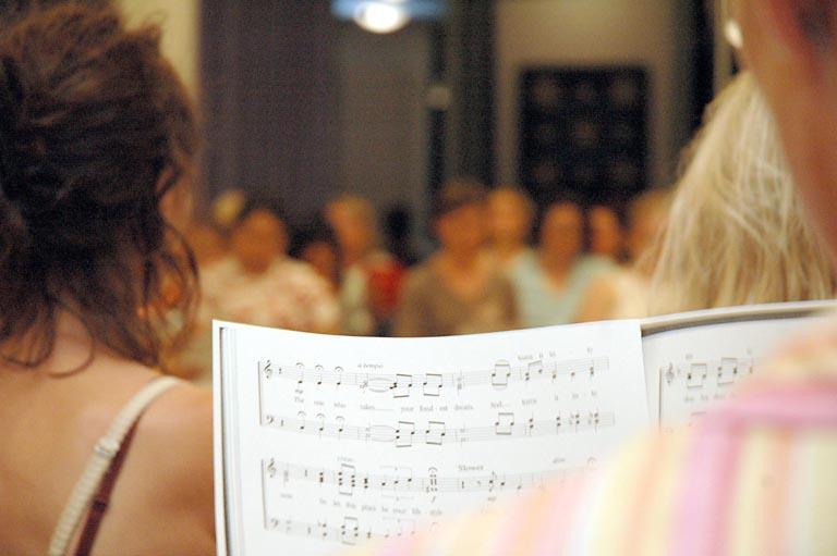 Gemeinsam im Chor...