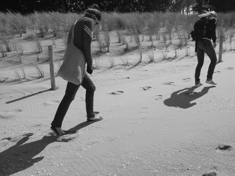 Gemütlicher Strandspaziergang
