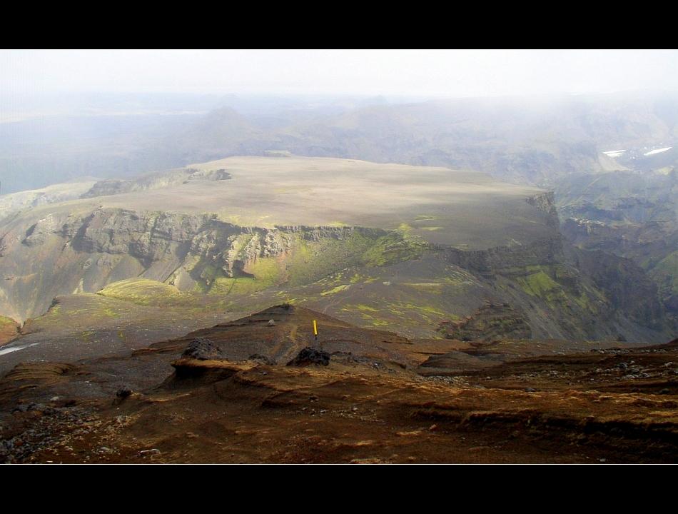 ...genau hier ist der Vulkan ausgebrochen...