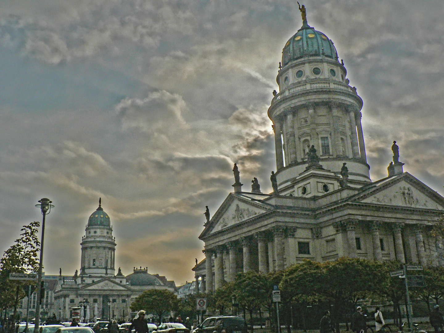 Gendarmenmarkt with the Concert House and the German Cathedral