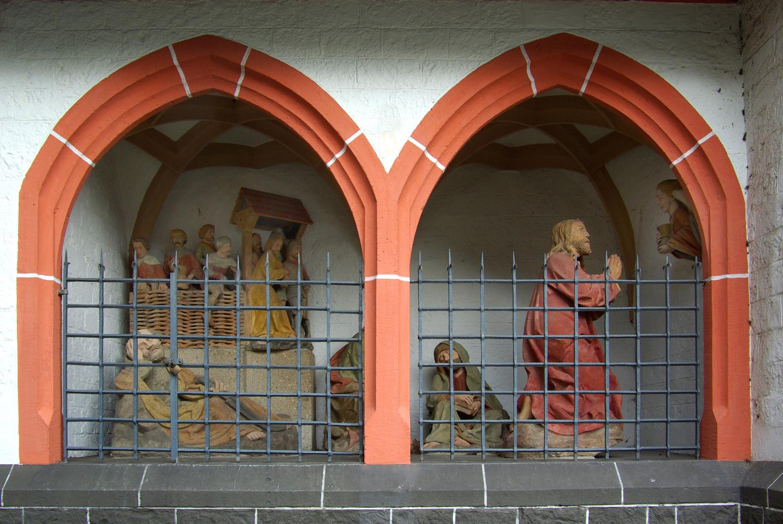 Genovevakirche Obermendig/Eifel (Ölberggruppe um 1500)